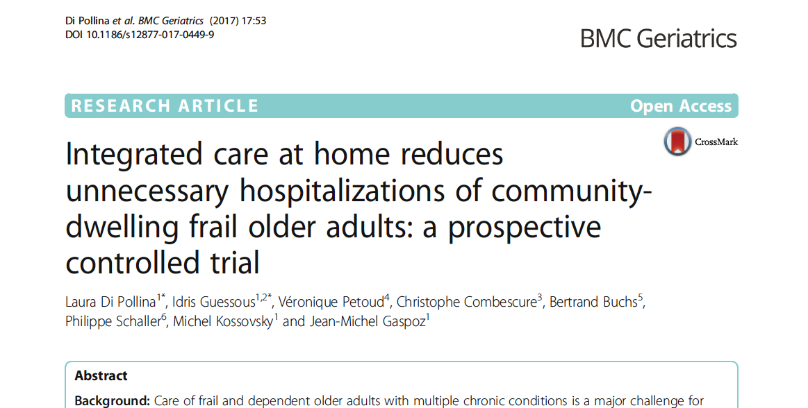 Integrated care at home reduces unnecesssary hospitalizations